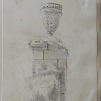April 18. 1845 [gate pier and urn]