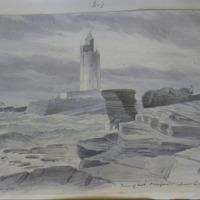 Tower of Hook Co. Wexford. Lower Limestone. Geo: V Du Noyer. June 1856