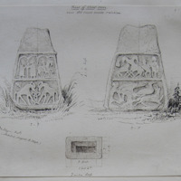 Base of stone cross near Old Court Castle; co Wicklow; Geo. V Du Noyer Delt. (sketched.august.8.1840)