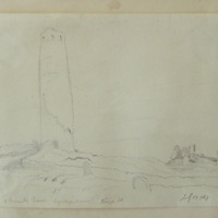 O'Ruark's Tower. Clonmacnoise. July 29 1847. Kings Co