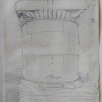 Side aisle pillaster Jerpoint Abbey Co. Kilkenny. Apr 1864