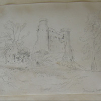 Dunmoe Castle near Navan Co. Meath. June 1866